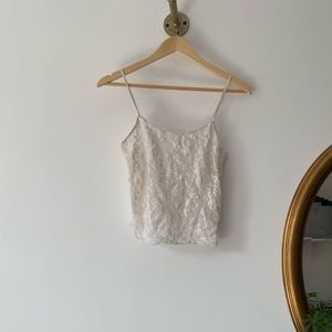 vintage DKNY white lace camisole